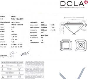 Asscher Cut Diamond 0.32ct - F VS1