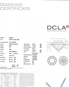 Round Brilliant Cut Diamond 0.66ct - E VS1