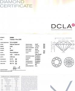 Round Brilliant Cut Diamond 0.42ct - E VVS1