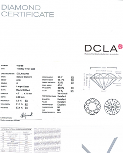 Round Brilliant Cut Diamond 0.39ct - E IF