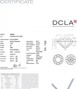 Round Brilliant Cut Diamond 1.00ct - G VS1