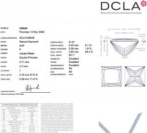 Princess Cut Diamond 0.57ct - F IF