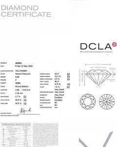 Round Brilliant Cut Diamond 0.23ct - F VVS2