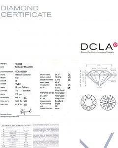 Round Brilliant Cut Diamond 0.21ct - H VVS2