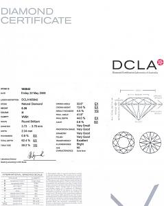 Round Brilliant Cut Diamond 0.20ct - H VVS1