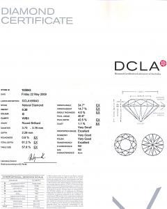 Round Brilliant Cut Diamond 0.20ct - G VVS1