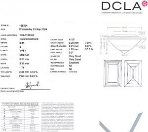 Baguette Cut Diamond 0.41ct - E VVS1