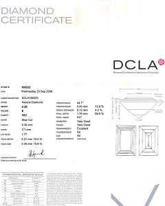 Baguette Cut Diamond 0.38ct - E VS1