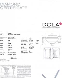 Baguette Cut Diamond 0.40ct - F VVS1