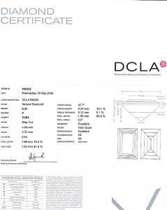 Baguette Cut Diamond 0.21ct - F VVS2