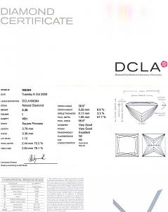 Princess Cut Diamond 0.26ct - I VS1