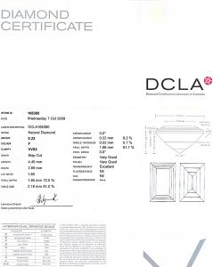 Baguette Cut Diamond 0.22ct - F VVS2