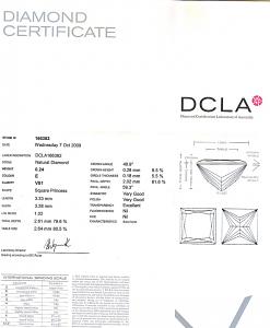 Princess Cut Diamond 0.24ct - E VS1