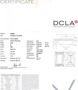 Baguette Cut Diamond 0.26ct - G VS1