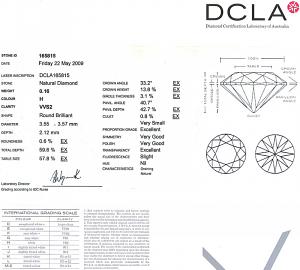 Round Brilliant Cut Diamond 0.16ct - H VVS2