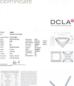 Princess Cut Diamond 0.50ct - F SI1