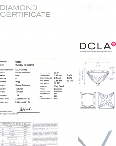 Princess Cut Diamond 0.55ct - F VVS2