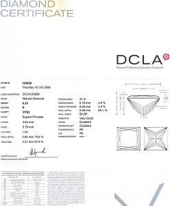 Princess Cut Diamond 0.33ct - E VVS2