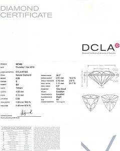 Trilliant Cut Diamond 0.23ct - E SI1