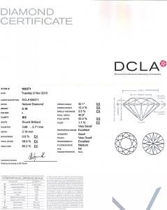 Round Brilliant Cut Diamond 0.18ct - I SI2