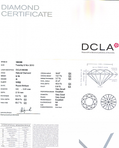 Round Brilliant Cut Diamond 0.16ct - G VVS2