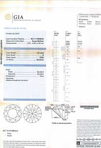 Round Brilliant Cut Diamond 1.04ct - D VVS2