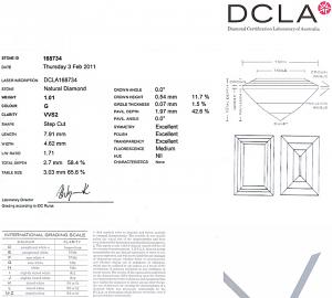 Baguette Cut Diamond 1.01ct - G VVS2
