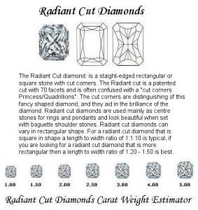 Radiant Cut Diamond Pairs 0.62ct - F/G VS+