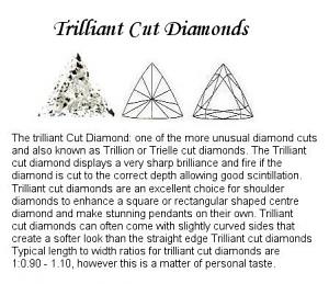 Trilliant Cut Diamond Pairs 0.15ct - F VS