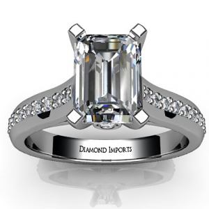 Emerald Diamond Ring Channel Set