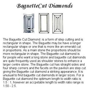 Baguette Diamond Pairs 0.38ct - F/G VS+