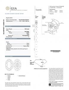 Oval Shape Diamond 0.50ct - Fancy Natural Light Pink I1