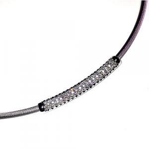 Diamond Arc Cable Necklace