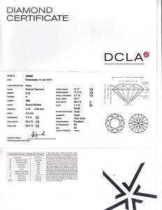Round Brilliant Cut Diamond 0.21ct - F VS2
