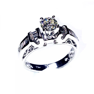 'Celeste' Diamond Engagement Ring - 0.85cts