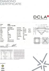 Asscher Cut Diamond 0.75ct - E SI1