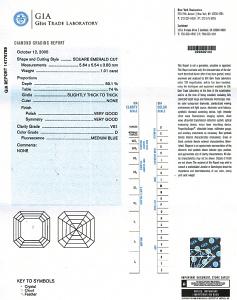 Asscher Cut Diamond 1.01ct - D VS1