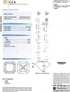 Asscher Cut Diamond 1.09ct - H VS1