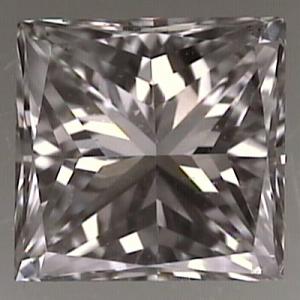 Princess Cut Diamond 0.53ct - F VS2