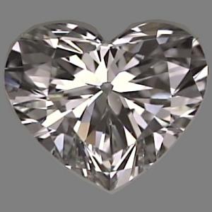 Heart Shape Diamond 0.70ct - F VVS1