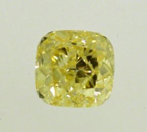 Cushion Cut Diamond 1.62ct - Fancy Intense Yellow IF
