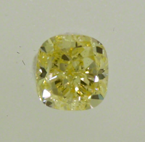 Cushion Cut Diamond 1.13ct - Fancy Light Yellow VS2