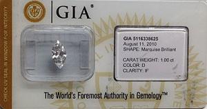 Marquise Cut Diamond 1.00ct - D IF