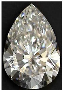 Pear Shape Diamond 0.91ct - E VS2