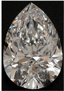 Pear Shape Diamond 1.00ct - D SI1