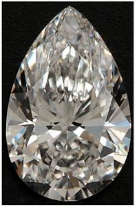 Pear Shape Diamond 1.11ct - D VS2