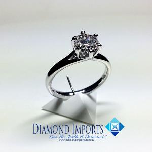 'Alana' Diamond Engagement Ring - 1.03ct - F SI1