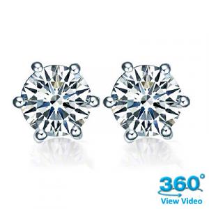 Diamond Stud Earrings - 0.48 carats total G/H SI
