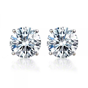 Diamond Stud Earrings - 0.41 carats total D VVS1 - Certified