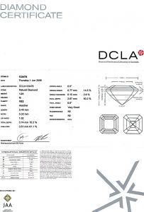 Asscher Cut Diamond 1.01ct - G VS2